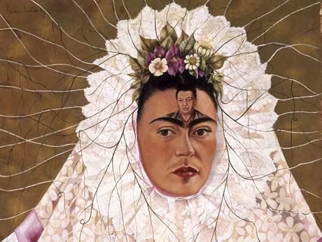 Frida Kahlo: Autoportrét jako Tehuana aneb Diego v mých myšlenkách, 1943