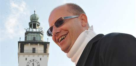 Bohuslav Sobotka na mítinku ČSSD ve Vyškově