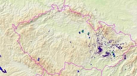 Radarová data z doby, kdy se objevilo tornádo u Vysokého Mýta (11:45)