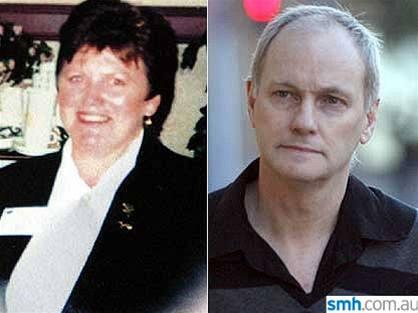 Vpravo Des Campbell, vlevo jeho žena a oběť vraždy Janet