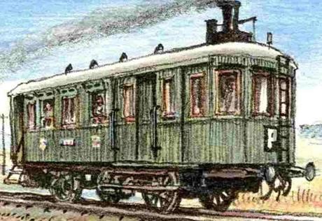 Parní lokomotiva Komarek z roku 103, jeden z exponátů Železničního muzea