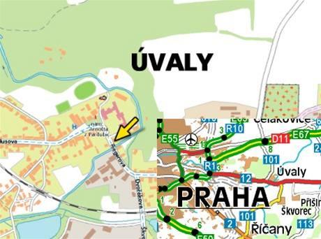 mapa -uvaly