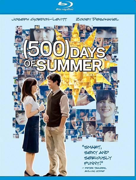 Obal blue ray disku s filmem 500 dní se Summer