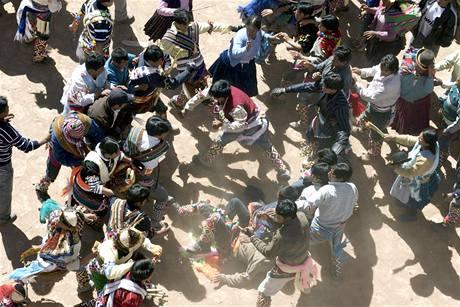 Bolívijský festival Tinku.