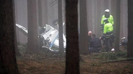 Policisté na místě havárie