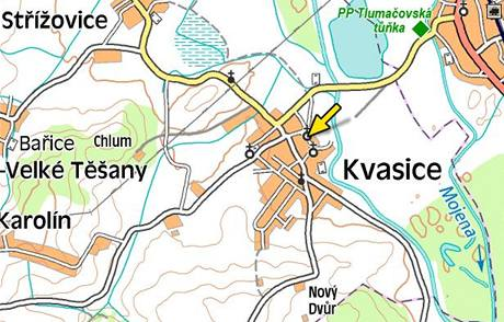 Mapa Kvasic