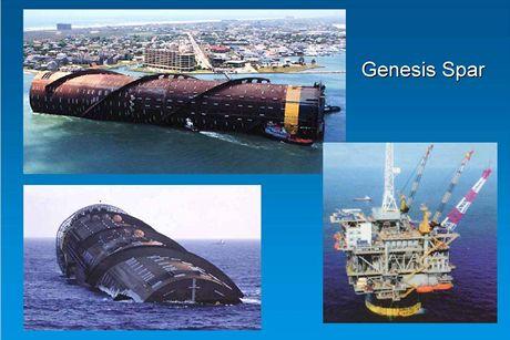 Přeprava nohy ropné plošiny Genesis Spar
