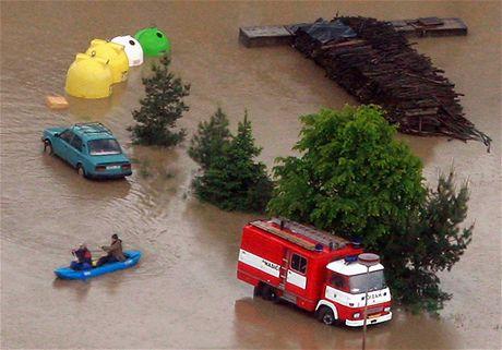 Záplavy z letadla - Troubky (18. května 2010)