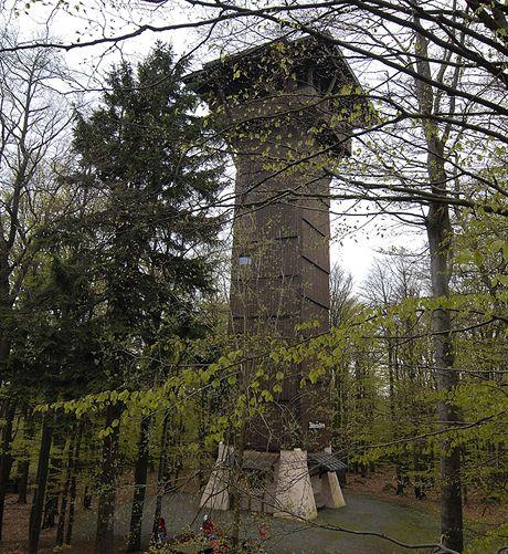 Rozhledna Böhmerwaldaussichtsturm na vrcholu Ebene