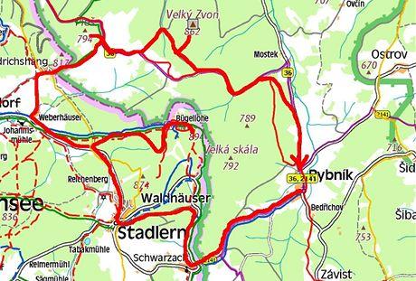 Cyklovýlet přes Český les