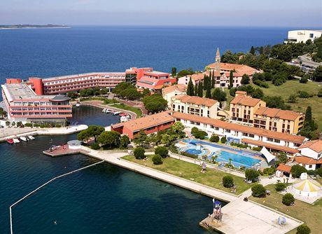 Slovinsko, areál hotelu Histrion u Portorože
