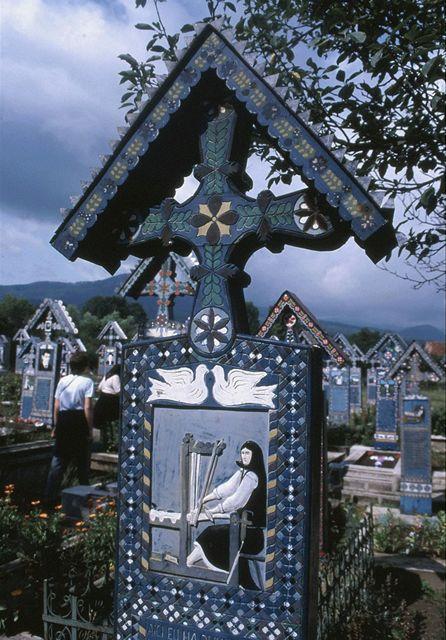 Rumunsko, Maramureš, Sapinta - Veselý hřbitov