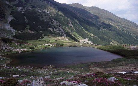 Rumunsko, jezero Lacurile lala Mare