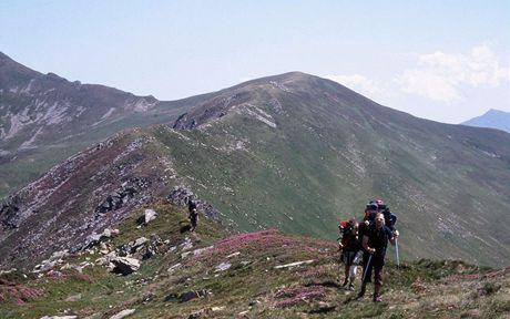 Rumunsko, na hřebeni pohoří Rodna