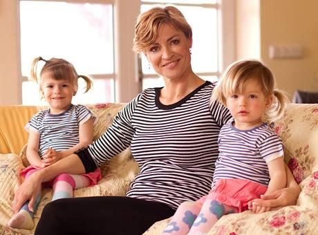 Hana Kynychová a dvojčata  Sofie a Alexandra