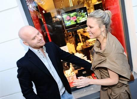 Simona Krainová s přítelem Karlem Vágnerem