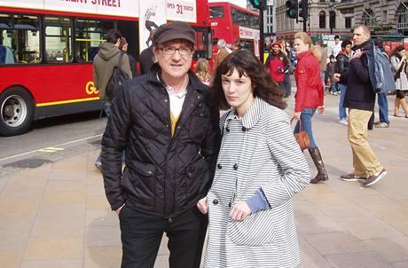 Meky Žbirka a Magda Šalamounová - natáčení v Londýně