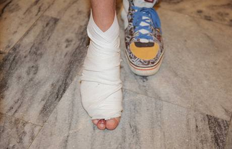 Zraněný Sámer Issa