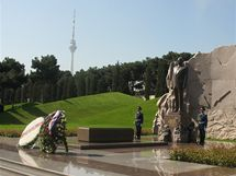Hrobka ázerbájdžánského prezidenta Hejdara Alijeva v Baku