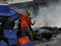 Nepokoje v thajském hlavním městě Bangkoku (16. května 2010)