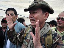 Vojenský velitel thajských povstalců Kchattija Savasdipol (13. května 2010)