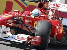 Fernando Alonso při prvním tréninku na Velkou cenu Monaka