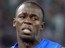 Usain Bolt ve sv�m premi�rov�m z�vodu na 100 metr� v roce 2010