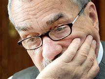 Předseda TOP 09 Karel Schwarzenberg. (12. května 2010)