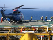 Přistání helikoptéry