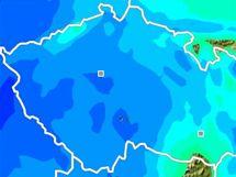 Model srážek ve středu 20:00