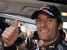 Mark Webber coby vítěz kvalifikace na VC Monaka