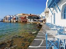 Řecko, Mykonos časně ráno
