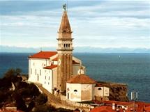 Slovinsko, kostel sv. Jiří v Piranu
