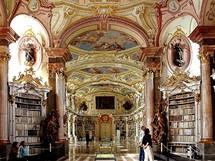 Rakousko, klášterní knihovna v Admontu