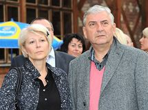 Miroslav Donutil s manželkou