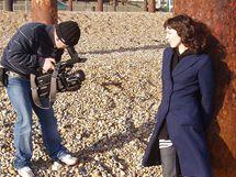Magda Šalamounová - natáčení v Londýně