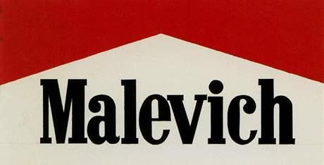 Z výstavy Glasnost: Alexander Kosolapov - Marlboro Malevič, 1991