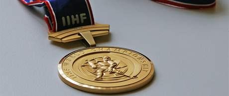 Zlatá medaile z hokejového mistrovství světa v Německu
