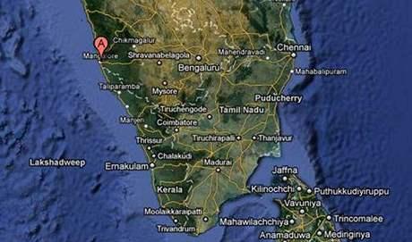 Mangalore, jižní Indie.