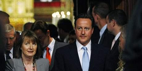 Britský premiér David Cameron na slavnostním zahájení nového zasedacího období britského parlamentu (25. května 2010)