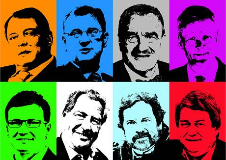 Volební lídři stran, které mají šanci dostat se do Poslanecké sněmovny.