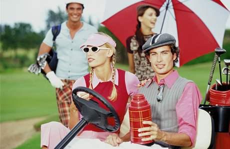 Golfová móda - ilustrační.