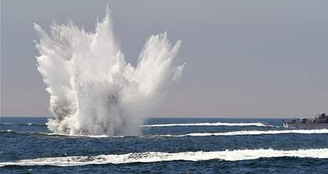Jihokorejské vojenské cvičení ve Žlutém moři (27. květně 2010)