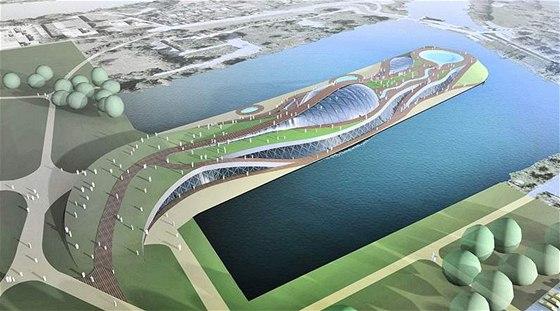 Návrh aquaparku u Libeňského mostu – 2. ročník soutěže