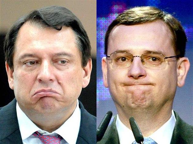 Ji�í Paroubek a Petr Ne�as