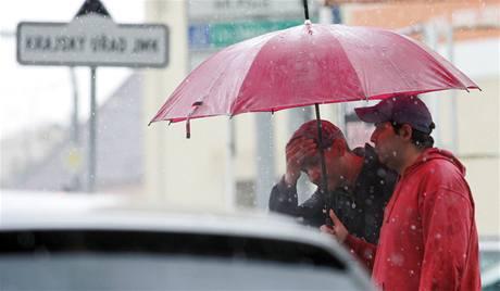 Přívalový déšť v Brně (25. 5. 2010).