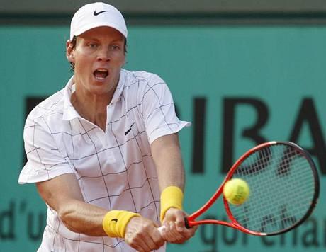 ZARPUTILÝ VÝRAZ. A postup do třetího kola Roland Garros. Tomáš Berdych si zatím počíná jistě.