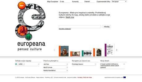 Stránky Europeana, které nabízejí přístup k různým zdrojům