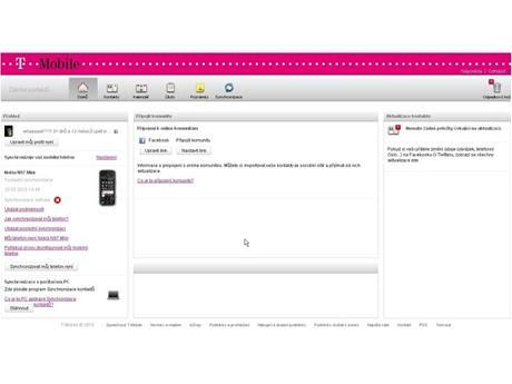 T-Mobile Záloha kontaktů