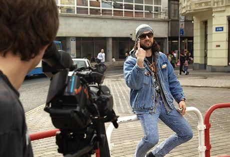 Ruda při natáčení klipu Ostrava